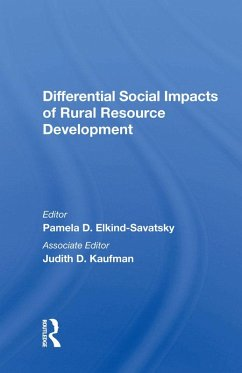 Differential Social Impacts Of Rural Resource Development