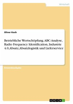 Betriebliche Wertschöpfung. ABC-Analyse, Radio Frequency Identification, Industrie 4.0, Absatz, Absatzlogistik und Lieferservice