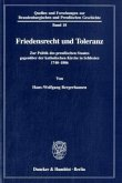 Friedensrecht und Toleranz (Mängelexemplar)