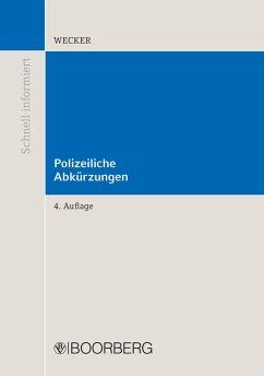Polizeiliche Abkürzungen (eBook, PDF) - Wecker, Sven-Eric