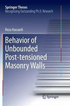 Behavior of Unbounded Post- tensioned Masonry Walls - Hassanli, Reza