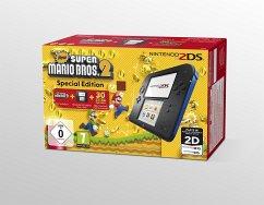 Nintendo 2DS schwarz-blau + New Super Mario Bros. 2 - Special Edition