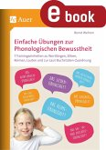 Einfache Übungen zur Phonologischen Bewusstheit (eBook, PDF)
