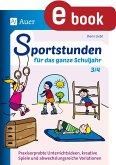 Sportstunden für das ganze Schuljahr 3-4 (eBook, PDF)