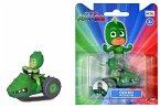 Dickie Toys 203141012 - PJ Masks, Gekko Moon Rover, Single Pack, Gekko-Figur mit Cast-Fahrzeug, 7 cm, grün