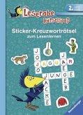Sticker-Kreuzworträtsel zum Lesenlernen (2. Lesestufe), türkis (Mängelexemplar)