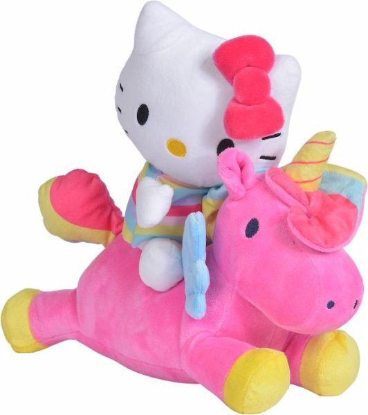 Simba 109281007 - Hello Kitty Einhorn Konturplüsch, 25cm