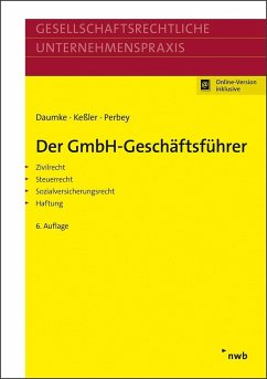 Der GmbH-Geschäftsführer - Daumke, Michael;Keßler, Jürgen;Perbey, Uwe