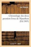Chronologie des deux premiers livres de Manethon