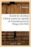 Société de Viticulture d'Arbois. Mémoire Sur La Manière La Plus Avantageuse de Faire Le Vin À Arbois
