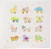 Goldbuch Animals on Wheels 25x25 60 weiße Seiten Babyalbum 24632