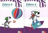 Zebra 4. Paket: Arbeitsheft Lesen/Schreiben und Arbeitsheft Sprache Klasse 4