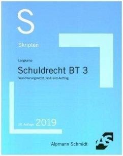 Skript Schuldrecht BT 3 - Langkamp, Tobias