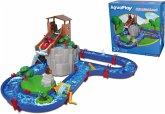 AquaPlay 1547 - Wasserbahn Adventure Land mit Berg, Turm und Stausee, Spieleset inkl. 2 Tierfiguren, Motorboot und Speedboot