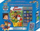 PAW Patrol - Der Einsatz läuft!, Buch und Spiel-Smartphone