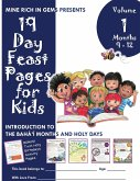 19 Day Feast Pages for Kids Volume 1 / Book 3: Introduction to the Bahá'í Months and Holy Days (Months 9 - 12)