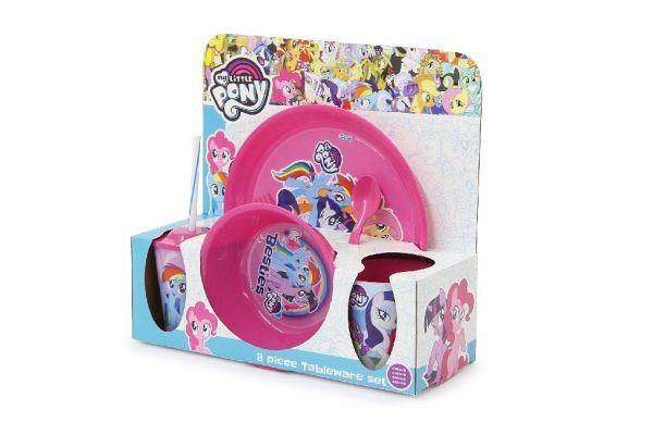 Müslischale und Tasse My Little Pony Kinder-Geschirr Set mit Teller