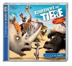 Konferenz der Tiere, 2 Audio-CDs (Mängelexemplar) - Huzly, Oliver; Klooss, Reinhard