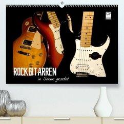 ROCKGITARREN in Szene gesetzt(Premium, hochwertiger DIN A2 Wandkalender 2020, Kunstdruck in Hochglanz) - Bleicher, Renate