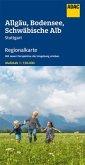 ADAC Regionalkarte Blatt 15 Allgäu, Bodensee, Schwäbische Alb 1:150 000