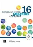 16 Miniatures, für Flöte mit Audio-CD oder Klavierbegleitung