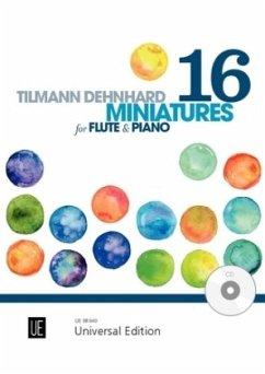 16 Miniatures, für Flöte mit Audio-CD oder Klavierbegleitung - Dehnhard, Tilmann