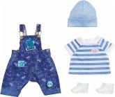 Zapf Creation® 829127 - BABY born Deluxe Jeans Latzhosen Set, Puppenkleidung, 43 cm