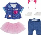 Zapf Creation® 829110 - BABY born Deluxe Jeans Kleid Set, Puppenkleidung, 43 cm