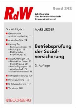 Betriebsprüfung der Sozialversicherung - Marburger, Horst