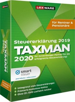 TAXMAN 2020 für Rentner & Pensionäre, 1 DVD-ROM