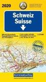 Kümmerly+Frey Karte Schweiz ACS 2020 Straßenkarte