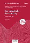Der mündliche Kurzvortrag (eBook, PDF)