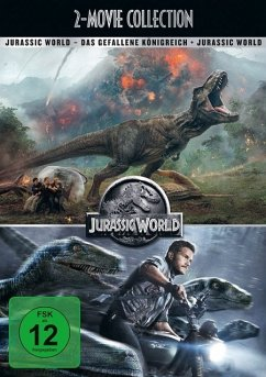 Jurassic World / Jurassic World: Das gefallene Königreich - 2 Disc DVD - Chris Pratt,Bryce Dallas Howard,Jeff Goldblum