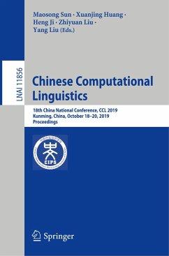 Chinese Computational Linguistics