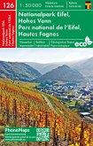 Nationalpark Eifel, Hohes Venn, Wander- Radkarte 1 : 50 000