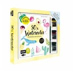 50 x Watercolor - Flamingo, Kaktus & Co. - Starter-Set - Sonderausgabe