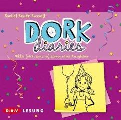 Nikkis (nicht ganz so) glamouröses Partyleben / DORK Diaries Bd.2 (2 Audio-CDs) (Mängelexemplar) - Russell, Rachel R.