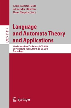 Language and Automata Theory and Applications (eBook, PDF)