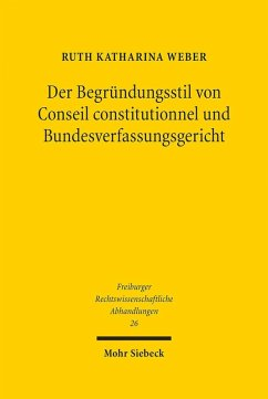 Der Begründungsstil von Conseil constitutionnel und Bundesverfassungsgericht (eBook, PDF) - Weber, Ruth Katharina