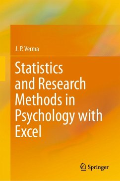 Statistics and Research Methods in Psychology with Excel (eBook, PDF) - Verma, J. P.