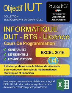 DUT Informatique - EXCEL 2016 (Tome 14) - Rey, Patrice