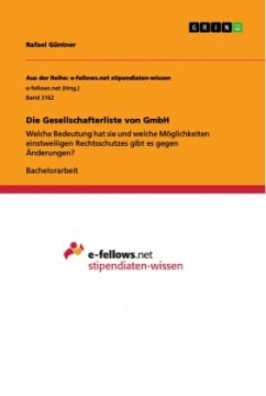 Die Gesellschafterliste von GmbH