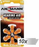 10x6 Ansmann Zinc-Air 13 (PR48) Hörgeräte Batterien