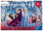 Ravensburger 05009 - Disney Frozen II, Reise ins Ungewisse, Die Eiskönigin, Puzzle, 2x12 Teile