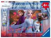Ravensburger 05010 - Disney Frozen II, Frostige Abenteuer, Die Eiskönigin, Puzzle, 2x24 Teile