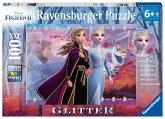 Ravensburger 12868 - Disney Frozen II, Starke Schwestern, Die Eiskönigin, Puzzle, Glitter 100 XXL-Teile