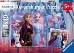 Ravensburger 05011 - Disney Frozen II, Die Reise beginnt, Die Eiskönigin, Puzzle, 3x49 Teile