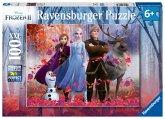 Ravensburger 12867 - Disney Frozen II, Magie des Waldes, Die Eiskönigin, Puzzle, 100 XXL-Teile