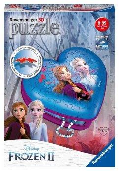 Ravensburger 12120 - Disney Frozen II, Herzschatulle, Die Eiskönigin, 3D-Puzzle, 54 Teile