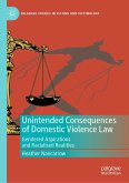 Unintended Consequences of Domestic Violence Law (eBook, PDF)